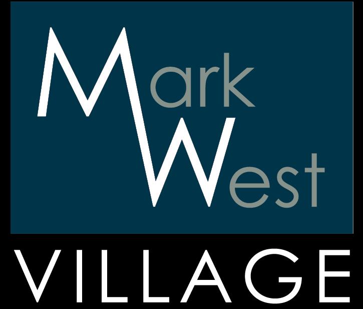 Mark West Village Logo_Blue White