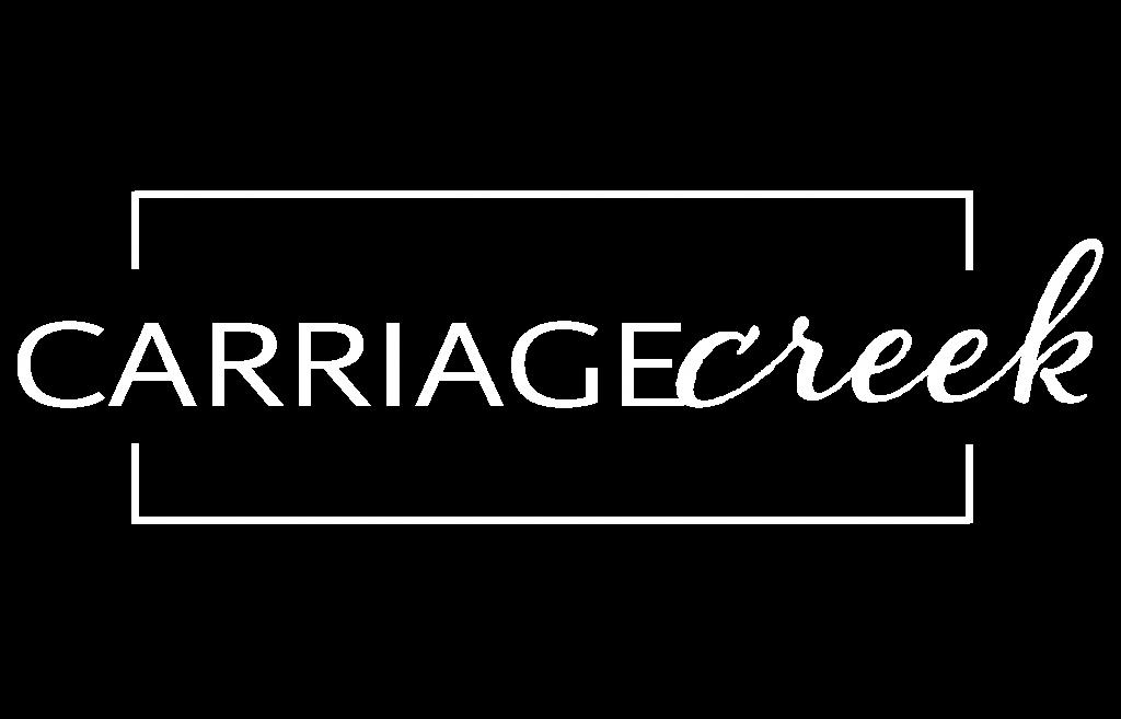 Carriage Creek Logo FINAL WHITE_trans background