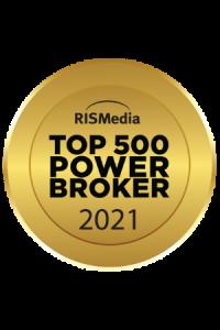 RISMedia Top 500 Power Broker 2021 Badge